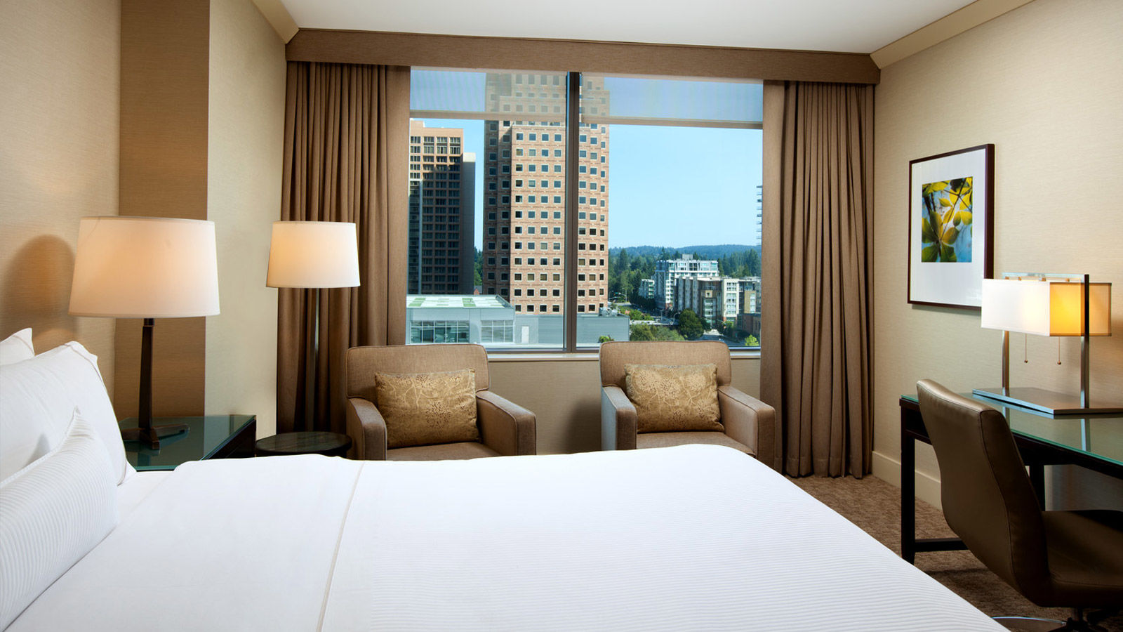 A newly renovated Traditional Room at The Westin Bellevue